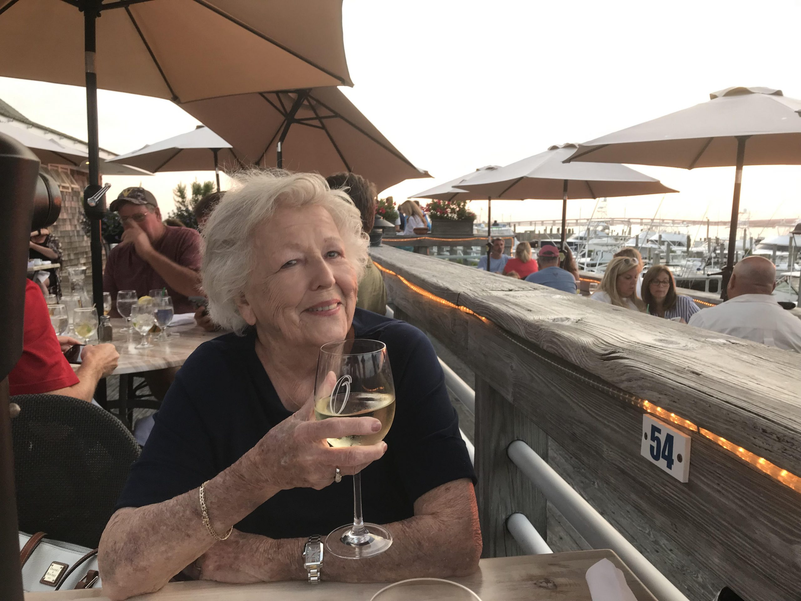 The Canal Cafe is one of the many places to enjoy a glass of wine along with a great meal and spectacular sunset.