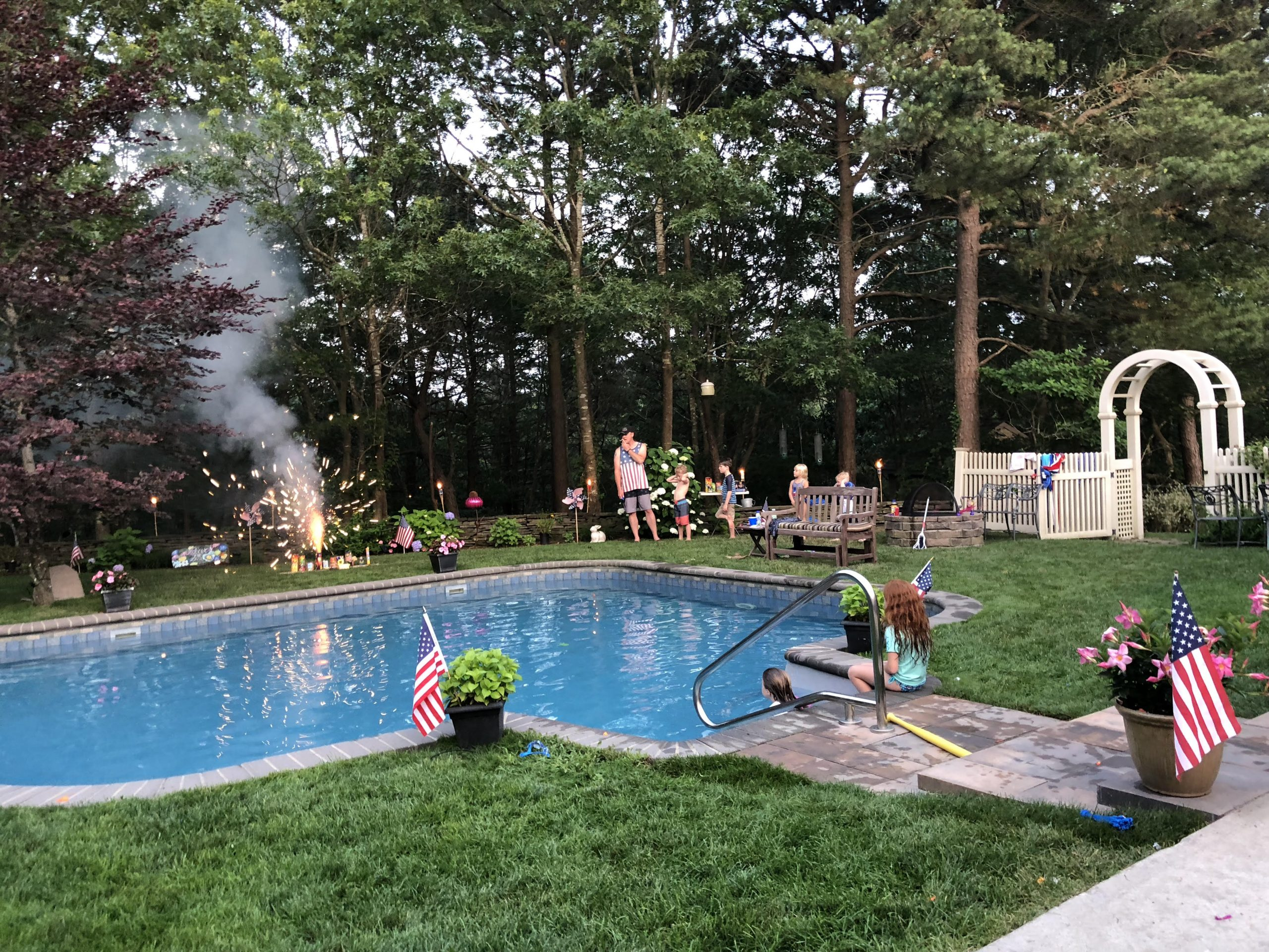 Backyard 4th of July parties are a must in Southampton Pines. All good fun welcome.
